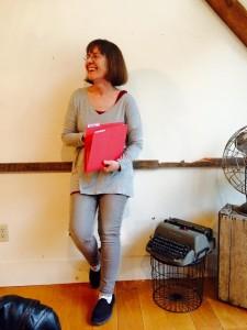 At Sarah Anderson's Word Barn opening reading....